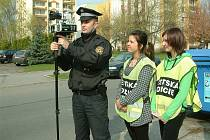 Společná hlídka strážníků a školáků ze ZŠ Gen. Svobody