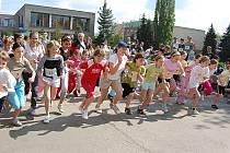 Školáci závodili v běhu.