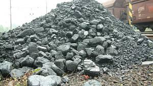 Těžba uhlí na severu Čech