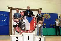 Pavel Pokorný na nejvyšším stupínku kategorie do 83 kilogramů.