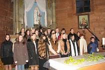 Vánoční koncert v albrechtickém kostele.