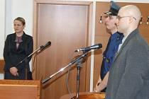 Vladimír Polák při vynášení rozsudku za loupeže.