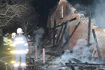 Požár hospodářského stavení v Petřvaldě