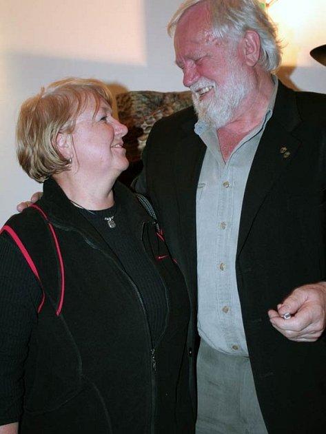 Richard Konkolski při setkání s přáteli v Bohumíně