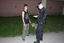 Mladý žhář po zadržení