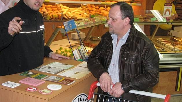 Preventivní akce zaměřená na snížení rizika okradení při nakupování