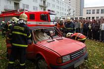 Ukázka práce záchranářů