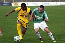 Vlado Milosavljev (vpravo) odehrál proti Jihlavě dobrý zápas.