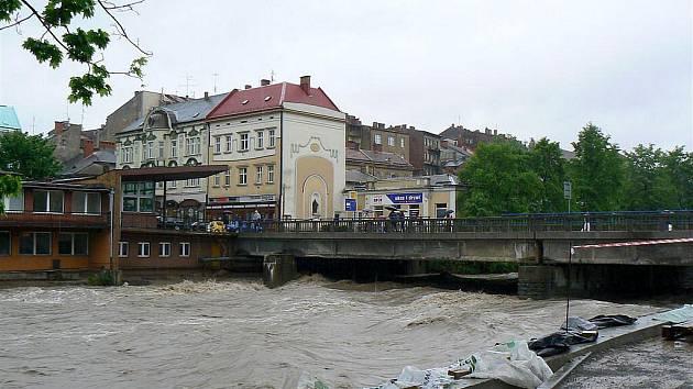 Záplavové ohrožení v Českém Těšíně