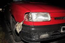 Automobil, který srazil chodce