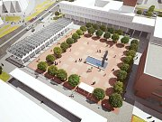 Navrhovaná podoba náměstí v Orlové