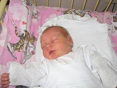 Natálie Slámová, 4. prosince 2007, Havířov. Váha: 3,3 kg, míra: 48 cm.