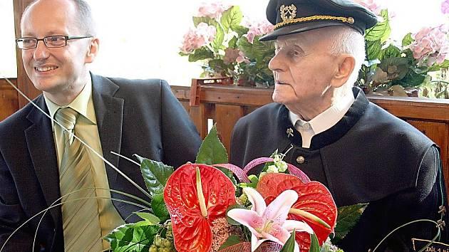 Nejstarší obyvatel Karvinska Gabriel Miksa