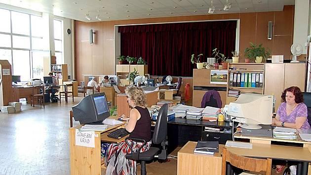 Dočasná náhradní radnice v Rychvaldě