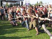 Havířovské hornické slavnosti 2008, přetahování lanem