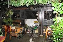 Požár chaty ve Stanislavicích