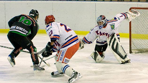 Hokejisté Orlové, v sestavě s několika hráči loňského SK Karviná, rozjeli sezonu výborně.