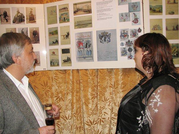 Autor výstavy Zdeněk Šebesta a ředitelka muzea Simona Slavíková.