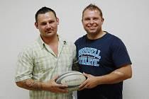 Patrik Leroch (vlevo) a Jaroslav Tomčík - ragbisté z Havířova.