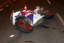 Nehoda motocyklisty