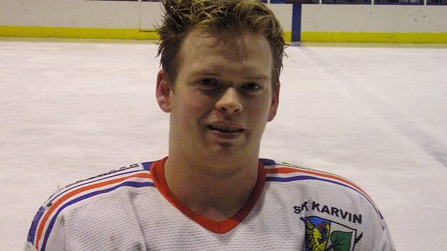Michal Belanec - nejproduktivnější hráč Karviné v play off.