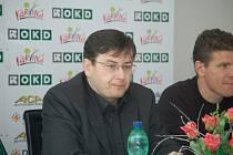 Předseda klubu Jan Wolf (vlevo) a sportovní manažer Petr Mašlej představili na tiskové konferenci své plány.