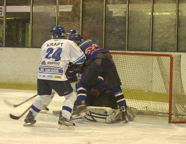 Orlovští hokejisté po bravurním výkonu proti Valašskému Meziříčí předvedli hokejovou selanku v Břeclavi.