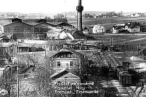 Dobová fotografie zachycuje bývalé Fryštátské ocelárny a železárny.