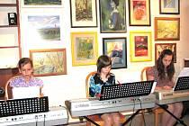 Koncert mladých hudebníků na vernisáži