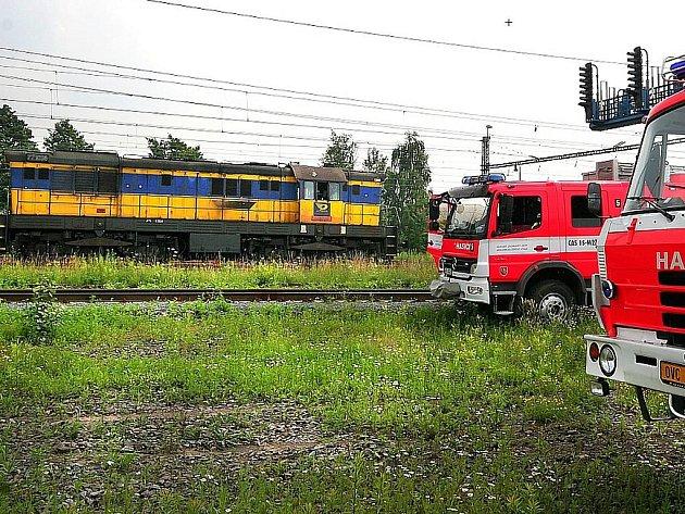 V Bohumíně museli hasiči hasit lokomotivu