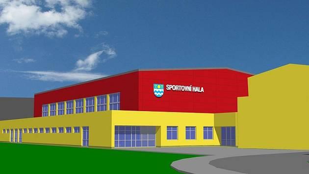 Takto by měla vypadat nová sportovní hala v Žákovské ulici