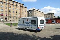 Starý Šumbark platí ve městě za jednu z nejnebezpečnějších částí. Také proto na tamním náměstí pravidelně stojí mobilní služebna městské policie.