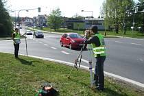 Vyšetřovací pokus na místě tragické dopravní nehody v Havířově