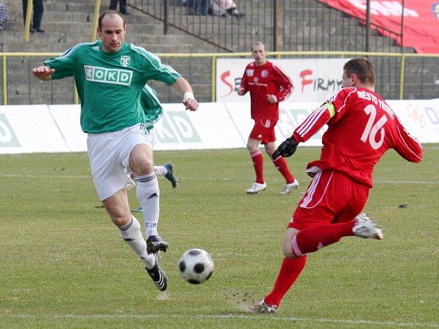 Martin Opic (vlevo) vsítil Třinci dva důležité góly.