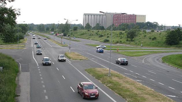 Křižovatka na Ostravské ulici v Havířově