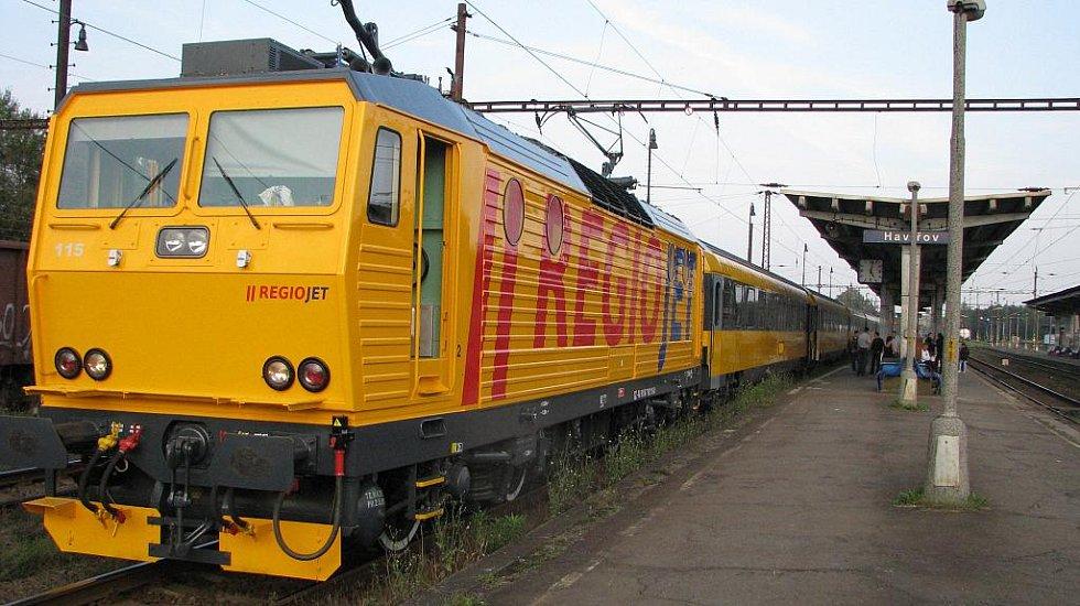 IC RegioJet na nádraží v Havířově