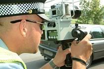 Havířovský strážník s laserovým radarem