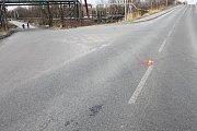 Místo dopravní nehody v Karviné