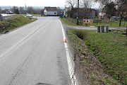 Místo dopravní nehody v Rychvaldu