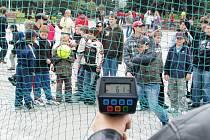 Test rychlosti hozeného míčku