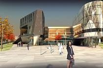 Studie budoucího obchodního centra Au Park v Karviné.
