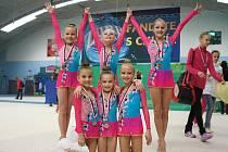 Mladé gymnastky Havířova dosáhly na titul republikových mistryň.
