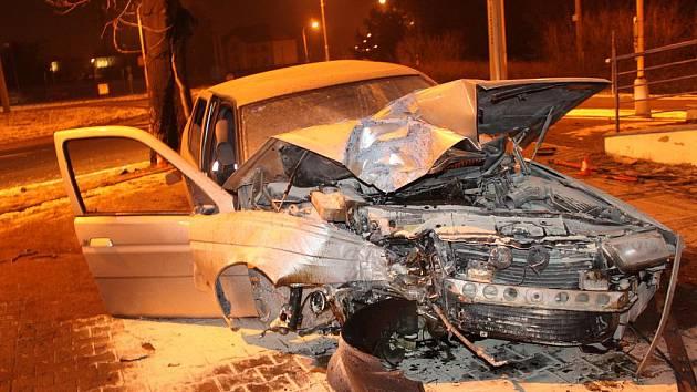 Nehoda Alfy Romeo v Havířově
