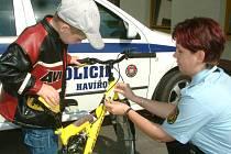 Cyklisté si mohou svá kola zaregistrovat u městské policie
