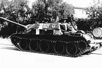 Sovětský tank v Karviné-Sovinci