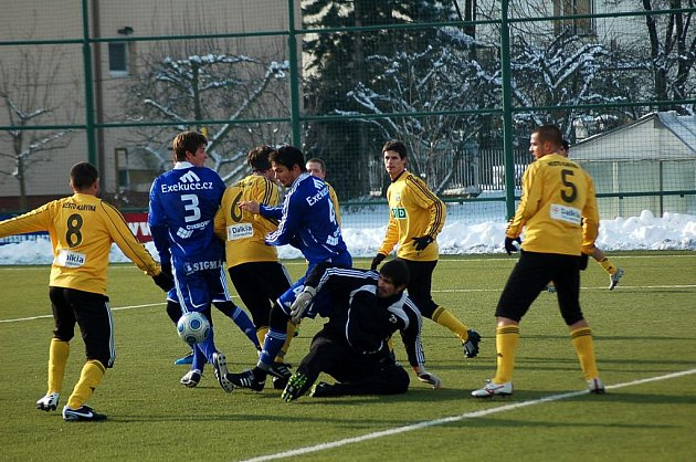 Z fotbalové přípravy Olomouc - Karviná.