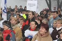 Demonstrace odborářů v Havířově