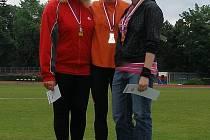 Vítězka Adéla Paluchová (uprostřed) z Orlové.