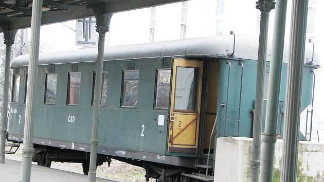 Historický vagón v Bohumíně.