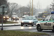 Policie hlídkuje u rondelu často.